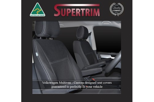 VOLKSWAGEN MULTIVAN T6 (2015-NOW) FRONT PAIR OF WATERPROOF NEOPRENE CAR SEAT COVERS