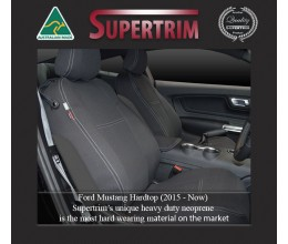 Ford Mustang Hardtop (2015-NOW)  FRONT + REAR Seat Covers , Snug Fit, Premium Neoprene (Automotive-Grade) 100% Waterproof