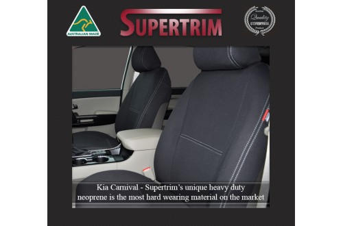 Seat Covers Front & 2nd Row With Full-Length + Access to Cupholders Covers Snug Fit Kia Carnival YP (2015 - Now), Premium Neoprene (Automotive-Grade) 100% Waterproof