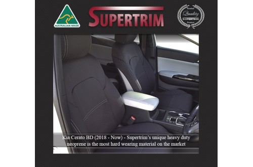 Kia Cerato Hatch (2018-NOW) FRONT + REAR Seat Covers , Snug Fit, Premium Neoprene (Automotive-Grade) 100% Waterproof