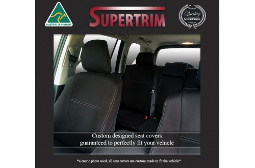 Kia Cerato Hatch (2015-2018) FRONT Full-Back Seat Covers with Map Pockets & REAR Seat Covers, Snug Fit, Premium Neoprene (Automotive-Grade) 100% Waterproof