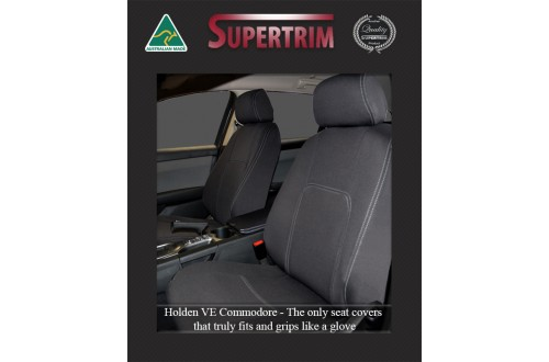 VE Holden Commodore FRONT Full-back with Map Pockets Seat Covers, Snug Fit, Premium Neoprene (Automotive-Grade) 100% Waterproof