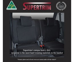 3RD ROW seat covers for Toyota Prado 90 series, Snug Fit, Premium Neoprene (Automotive-Grade) 100% Waterproof