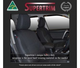 FRONT Seat Covers Full-back with Map Pockets Snug Fit for MAZDA BT-50 TF (2021-Now), Premium Neoprene (Automotive-Grade) 100% Waterproof