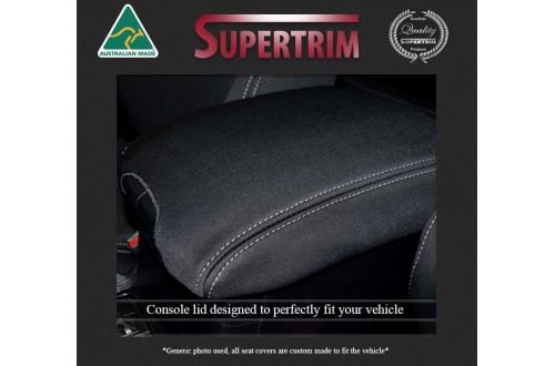 CONSOLE Lid Cover Snug Fit for ISUZU D-MAX (2021-Now), Premium Neoprene (Automotive-Grade) 100% Waterproof