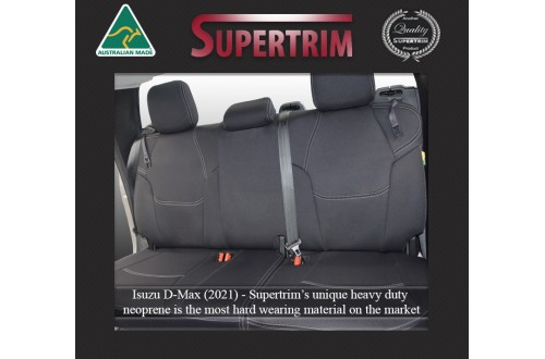 REAR Seat Covers Snug Fit for ISUZU D-MAX (2021-Now), Premium Neoprene (Automotive-Grade) 100% Waterproof