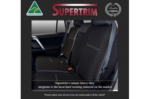 SUZUKI Grand Vitara JT (2008-Now) REAR NEOPRENE WATERPROOF UV TREATED WETSUIT CAR SEAT COVER
