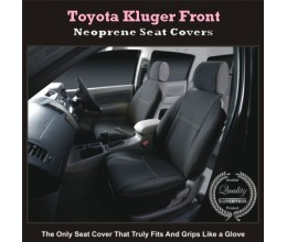 Seat Covers FRONT PAIR suitable for Toyota Kluger Series 2007-Now (2017 model available), Premium Neoprene (Automotive-Grade) 100% Waterproof