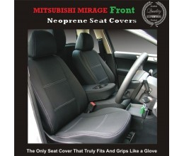 TOP MITSUBISHI MIRAGE FRONT PAIR OF WATERPROOF CAR SEAT COVERS WITH SEPARATE HEADREST COVERS