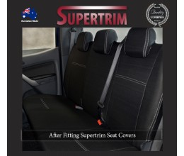 Ford Ranger PX MK.I (Jul 2011 - Aug 2015) REAR Dual Cab Seat Covers, Snug Fit, Premium Neoprene (Automotive-Grade) 100% Waterproof