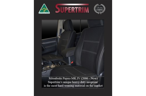 Mitsubishi Pajero Neoprene Custom Car Seat Covers FRONT