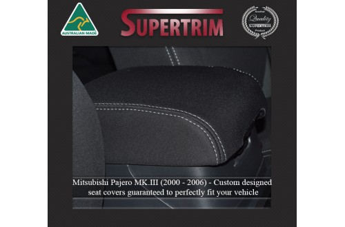 CONSOLE Lid Cover Snug Fit For Mitsubishi Pajero (1999 - 2006), Premium Neoprene (Automotive-Grade) 100% Waterproof