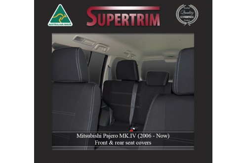 Mitsubishi Pajero Neoprene Custom Car Seat Covers FRONT Full-back Map pockets & Rear