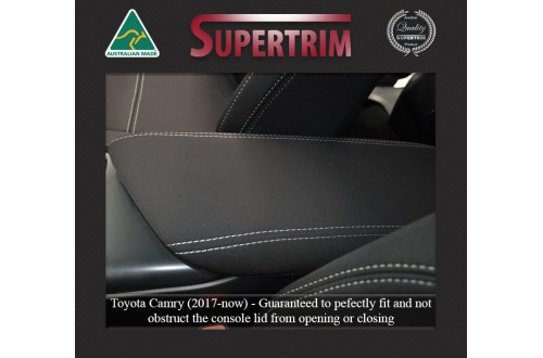 Toyota Camry CONSOLE LID COVER Custom Fit (Nov 2017 - Now), Premium Neoprene, Waterproof | Supertrim