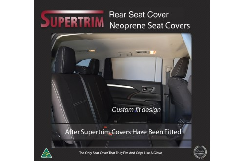 Audi A4 REAR Custom Car Seat Covers Premium Neoprene (Wetsuit)
