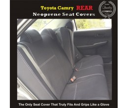 Seat Covers REAR suitable for Toyota Camry XV30 / XV40 / XV50(SEDAN) Premium Neoprene (Automotive-Grade) 100% Waterproof