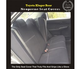 Seat Covers REAR suitable for Toyota Kluger Series 2007-Now, 2017 model available, Premium Neoprene (Automotive-Grade) 100% Waterproof
